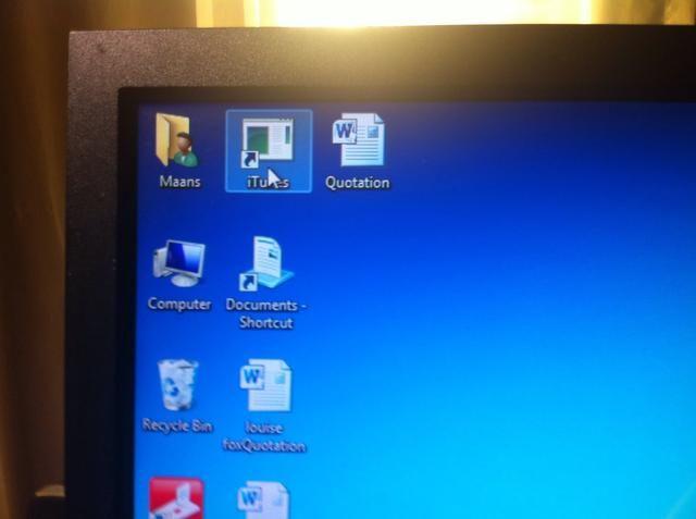 En el ordenador ... haga clic en el icono de itunes.