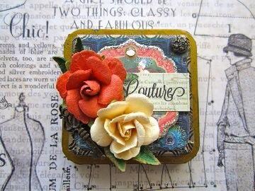 Puede cambiar los papeles, patrones, colores y adornos para hacer su espejo compacto todos los tuyos.