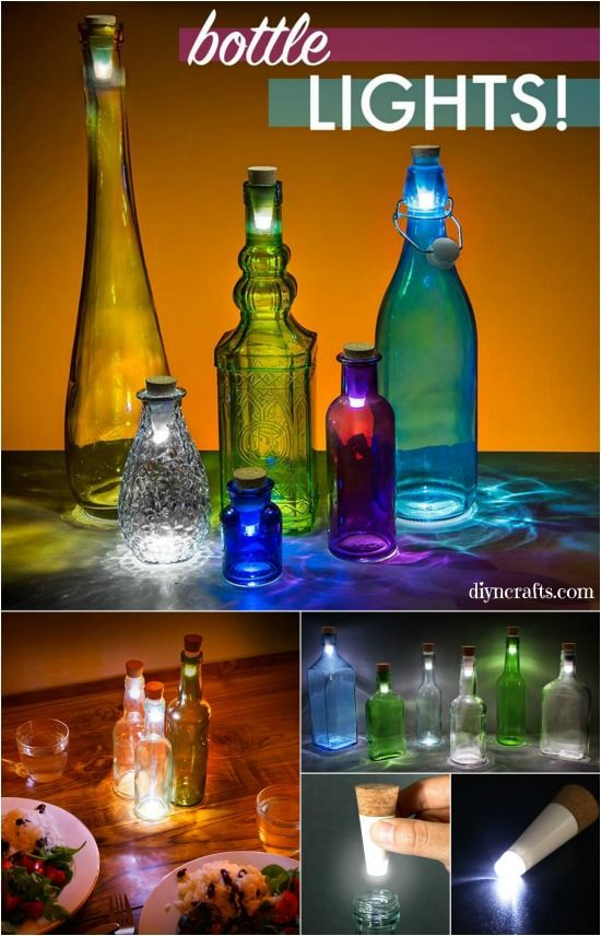 Cómo transformar una botella de cristal en una linterna decorativo simple. Tal idea reutilización creativa!