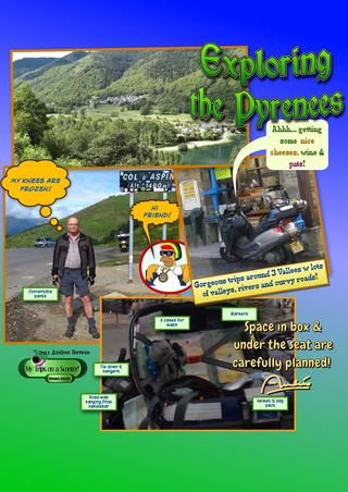 El cuadro de moto también es conveniente llevar sus suministros de picnic!