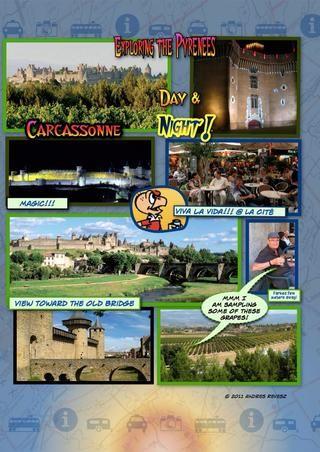 Carcassonne no permite el tráfico normal dentro de la Cité ... Pero hay una forma de que la moto para llegar al albergue de IH en la cima! ¡Excelente!