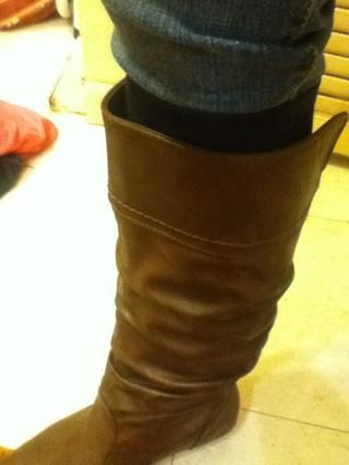 Si su calcetín es más alto que la bota ...