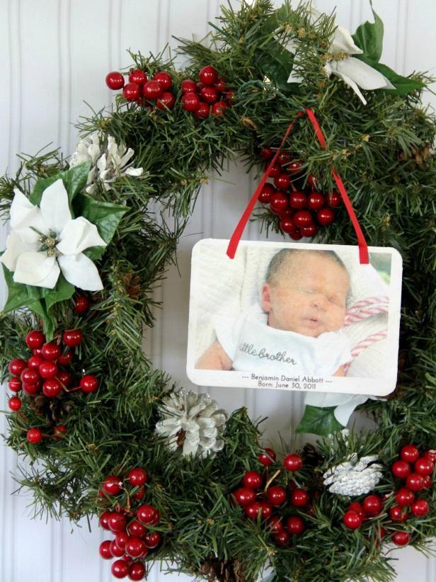 Fotografía - Cómo convertir un annoucement del nacimiento en un ornamento de navidad