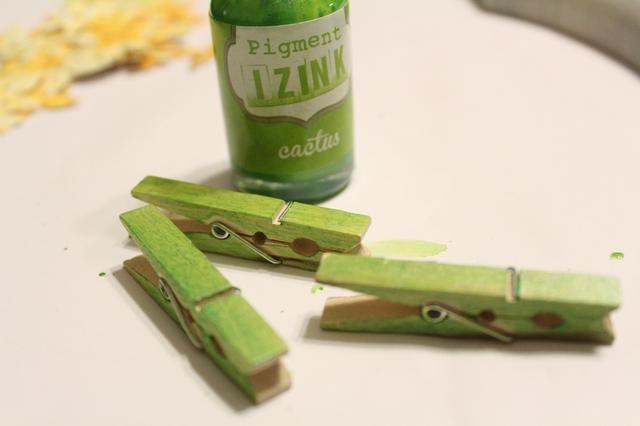 pinzas de la ropa de tinta utilizando Cactus Izink aplican utilizando Stylus y Consejos ...