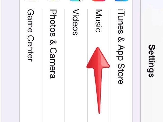 Cómo desactivar la función All Music en iOS7