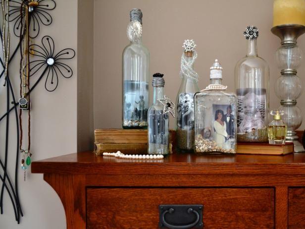Fotografía - Cómo activar viejas botellas en marcos de cuadros