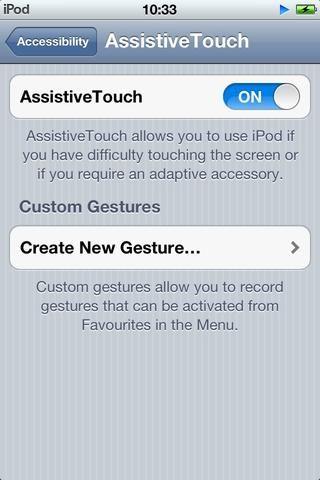 Ahora, en el menú de la accesibilidad, la habrá un rubro lado Touch Asistencial.