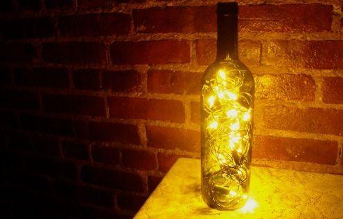Fotografía - Cómo: Gire Botellas de vino en las linternas románticos