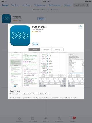 Necesidad de hacer su propio software de matemáticas personalizada? Si sabes un poco de programación, puede utilizar Pythonista por Ole Zorn al código de una en el lenguaje de programación Python. ($ 6,99)