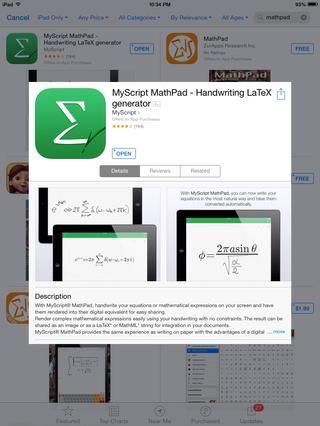 Escribir fórmulas a mano alzada utilizando MyScript MathPad! (Gratis)