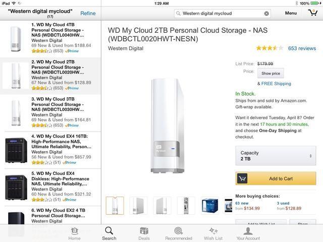 Mejor que el wi-unidad parece ser el dispositivo de la nube personal myCloud. Es como un servidor de archivos personales de Dropbox.