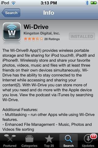 Si está utilizando el Wi-Drive, que tendrá que descargar su aplicación móvil para su Ipad. Es gratis.