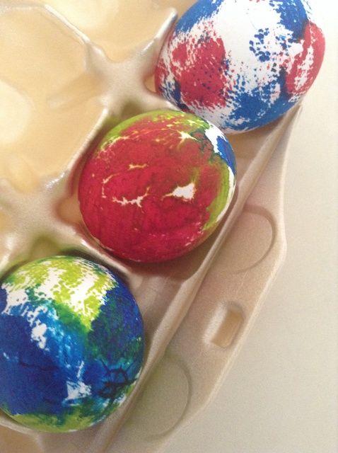 Cómo teñido anudado Huevos de Pascua Receta