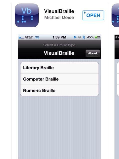 Cómo escribir Braille en iOS Uso VisualBraille