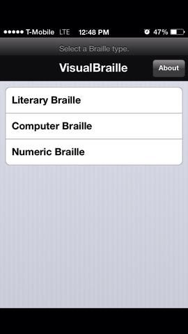 Toque en Braille numérico.