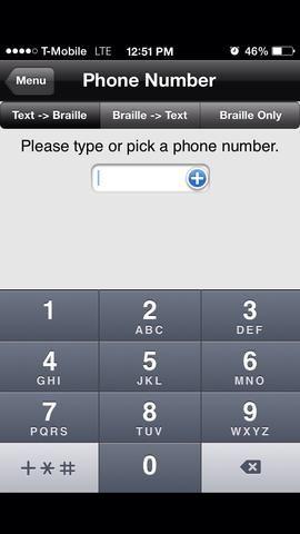 A medida que escribe el número, Braille aparecerá a continuación.