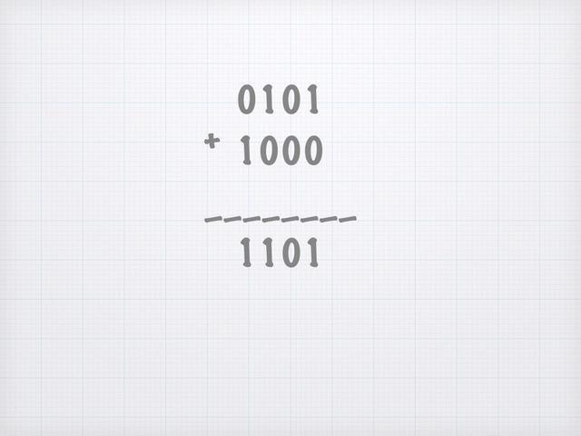 Adición de números binarios es muy simple!