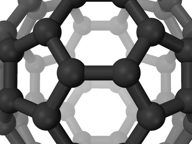 Otro de mis favoritos es el moléculas buckminsterfullereno (Bucky-Ball) (C60). Cuenta con 60 átomos de carbono y se parece a una pelota de fútbol.