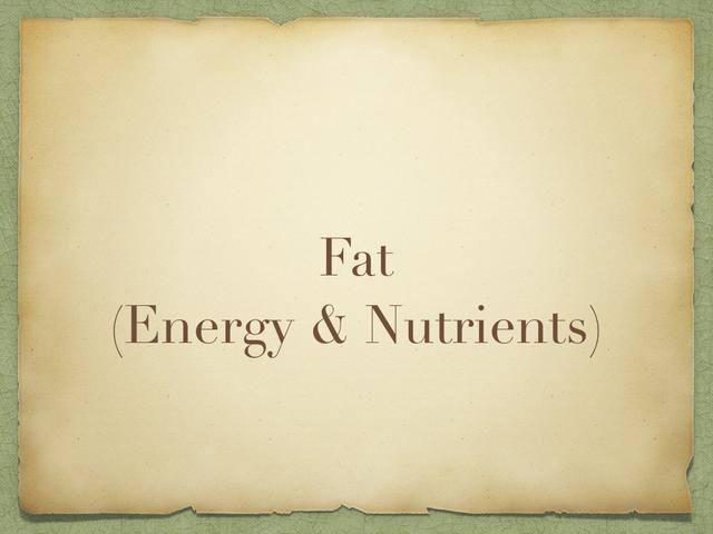 Ahora lo que necesita un poco de grasa! ¡SÍ! USTED NECESITA FAT! Debido a que las reservas de grasa de energía! Pero hay grasas buenas y hay grasa mala.