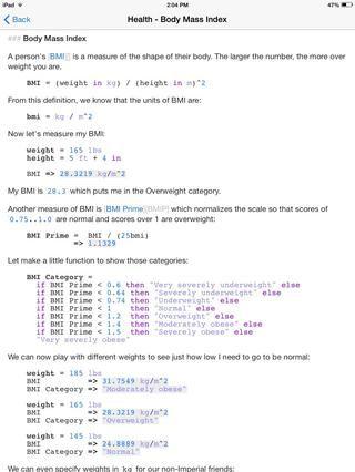 La aplicación Calca (mencionado en mi guía súper calculadora) ha construido en un ejemplo para la fórmula de Harris-Benedict. Gran recurso! Puede convertir unidades si usted desea.