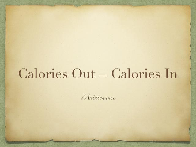 Y si las calorías que quema es igual a la cantidad que come, entonces usted está en el nivel de mantenimiento. Usted no va a ganar ni perder peso.