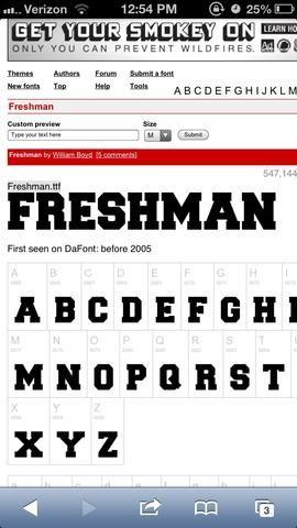 Elegí esta fuente en dafont.com para obtener un ejemplo de cómo quiero que las letras se vean.
