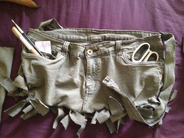 Cómo UP-CYCLE Jeans viejos a un Nifty Jardín / Bolsa de herramientas