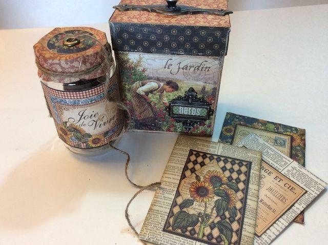 Cómo upcycle una caja y una jarra en un Jardinero's Gift Set