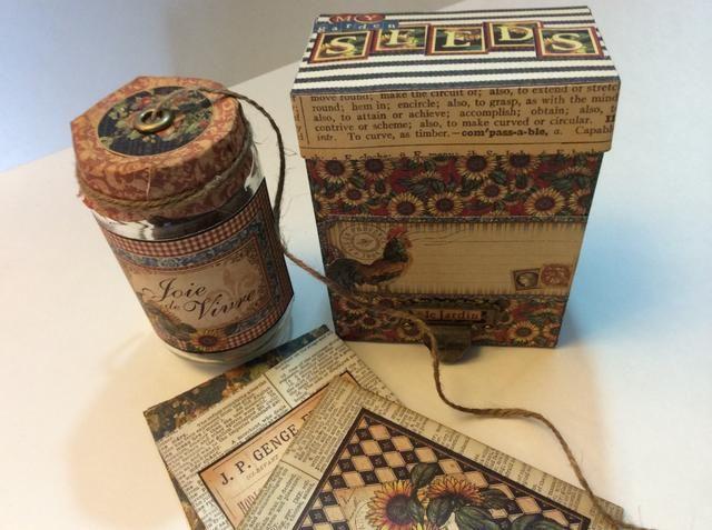 Upcycled caja y juego de jarra hace un gran regalo personalizado para su jardinero preferido esta primavera!
