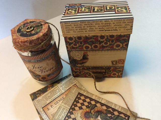 ** bono extra ... Puede elaborar unos paquetes de semillas upcycled fáciles para agregar a sus cajas también!