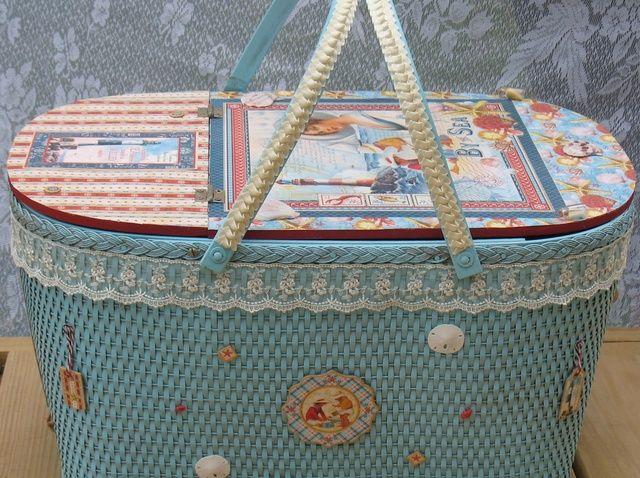 Cómo upcycle una cesta de picnic en las embarcaciones de mano Con G45