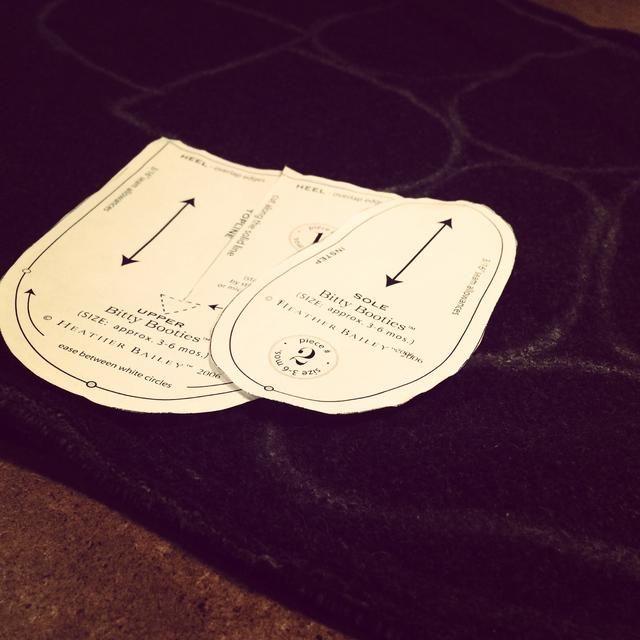Siguiente impresión y cortar el patrón. Normalmente suelo hacer los botines para las edades de 3-6 meses.