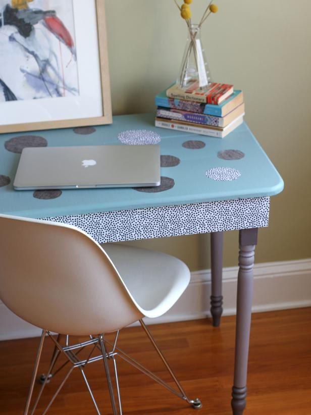 Fotografía - Cómo upcycle un viejo escritorio con tela