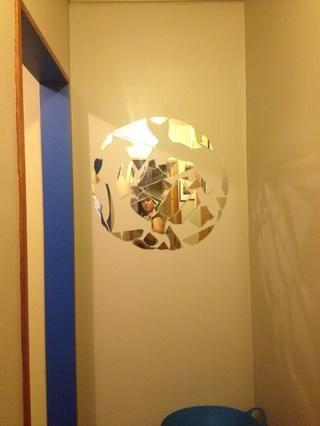 Por mi forma Elegí un círculo y esbocé a la ligera en la pared. Acabo de utilizar blutack para unir las piezas de la pared. Empecé con el borde exterior por lo que encontrar piezas con bordes curvados.