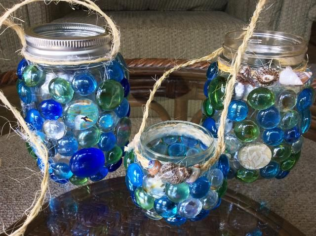Ejemplos de decoraciones en tarros de cristal