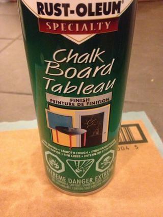 Utilicé pintura de pizarra para pintar mis párpados (de Home Depot). De esa manera usted puede etiquetar y cambiarlo cuando quieras. Pero se puede utilizar cualquier tipo de pintura!
