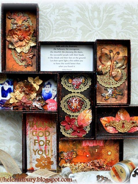 Cómo upcycle Cajas del teléfono en una pieza de decoración del hogar
