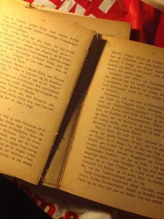 Y usted liberar una sección del libro. Ahora simplemente talladas o páginas de clip de