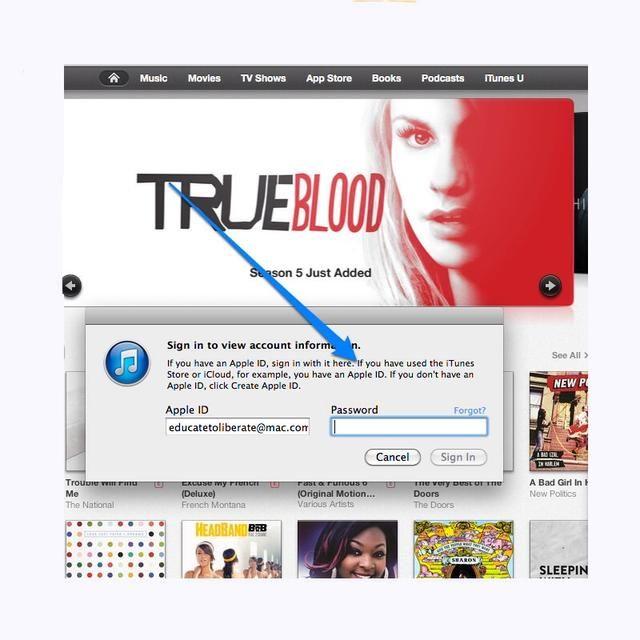 Conéctese a iTunes con tu cuenta ID de Apple.