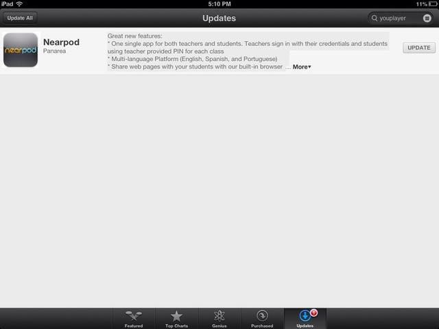Los maestros deben ir a la App Store y actualizar su aplicación Nearpod. Ya está's no need to delete anything.