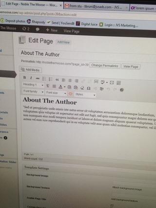 Ahora ha llegado a la pantalla de la página de edición. Aquí puede editar cada página de contenido mediante la adición / cambio de texto, enlaces, imágenes y vídeos. La interfaz es muy similar a Word u otros editores de texto.