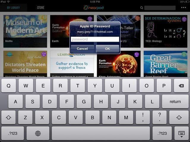 Introduzca la contraseña de ID de Apple.