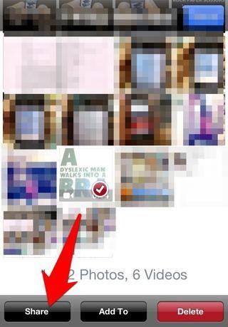 Clickea en el'share' button as shown