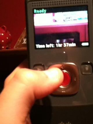 El botón rojo es para filmar