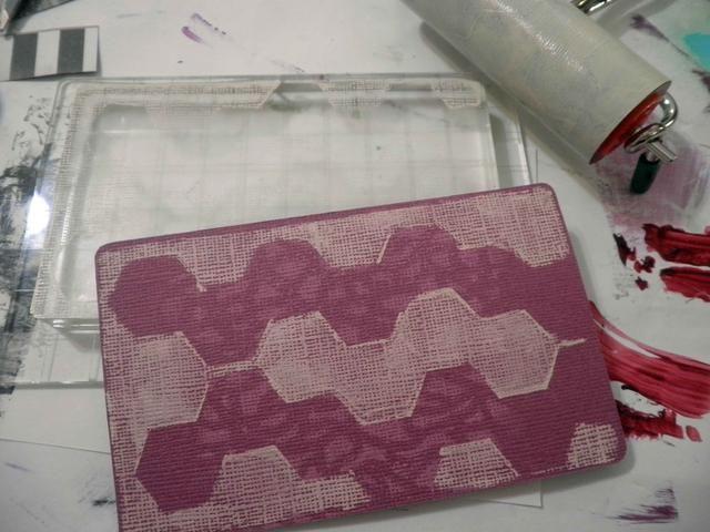 Ahora recoge la impresión de la placa en la tarjeta orquídea stock.