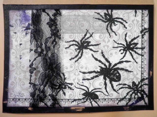Recorte de papel de impresión arañas de Halloween de 4-½
