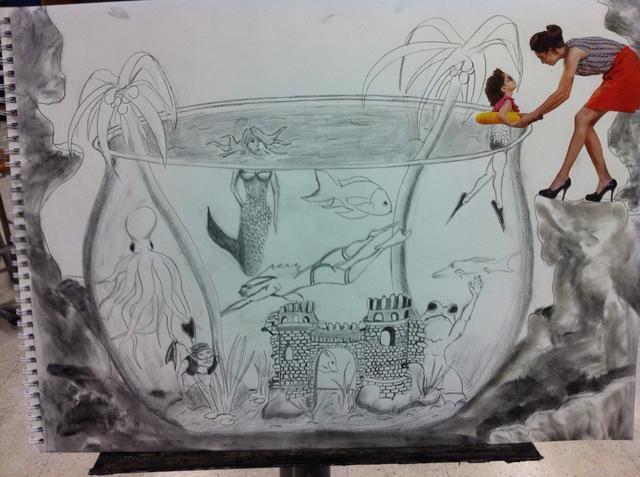 Un ejemplo acabado. Usa tus habilidades de nuestros lecciones anteriores para elevar su dibujo y la idea al mismo nivel.