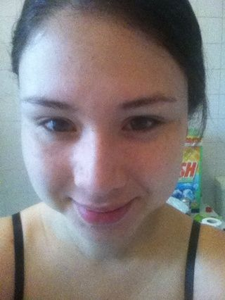 Enjuague con una cara lisa y limpia la cara #medium toalla de agua tibia # tadaaaaa!