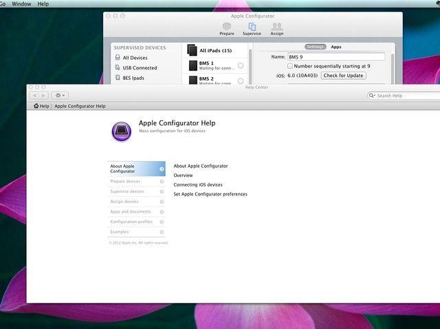 Cómo usar de Apple Configurator