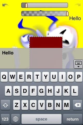 Utilice la herramienta de texto para añadir texto a la imagen. Mira en el menú de texto para ajustar el tamaño y color de fuente y texto.